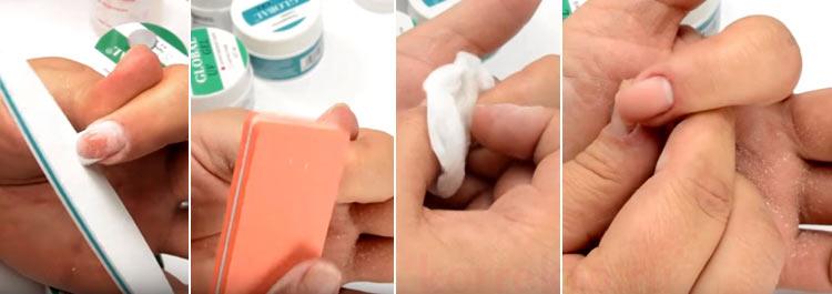 Самостоятельная коррекция гелевых ногтей