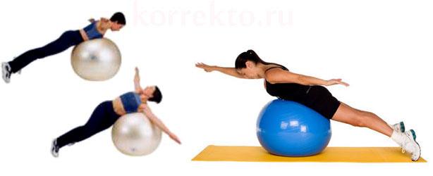 Упражнения с фитболом для осанки