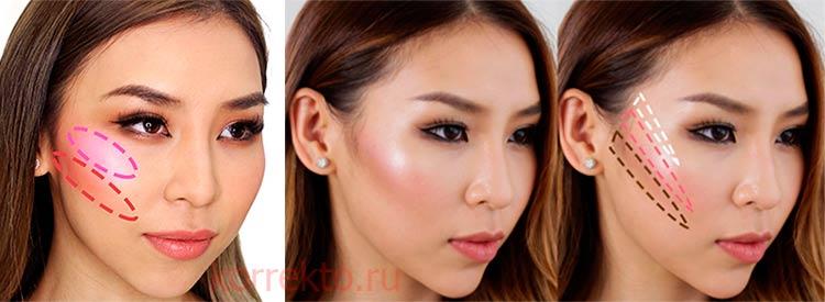 Дрейпинг макияж для скул