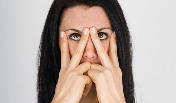 Йога для области глаз