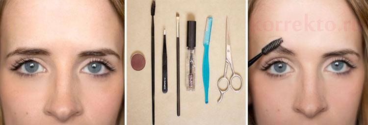 Как сделать себе идеальные брови в домашних 558