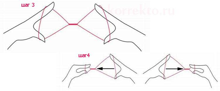 Как сделать нитку для выщипывания бровей видео