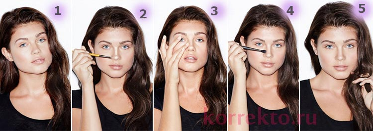 Как макияжем сделать вздернутый нос