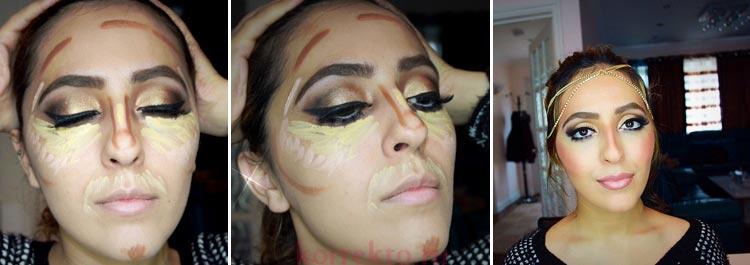 Коррекция лица цветными корректорами