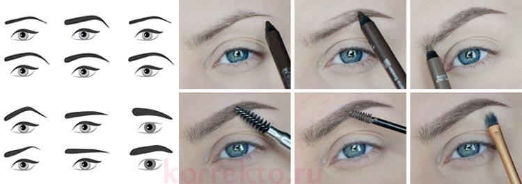 Как сделать карандашом естественные брови