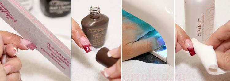 Как в домашних условиях сделать коррекцию нарощенных ногтей