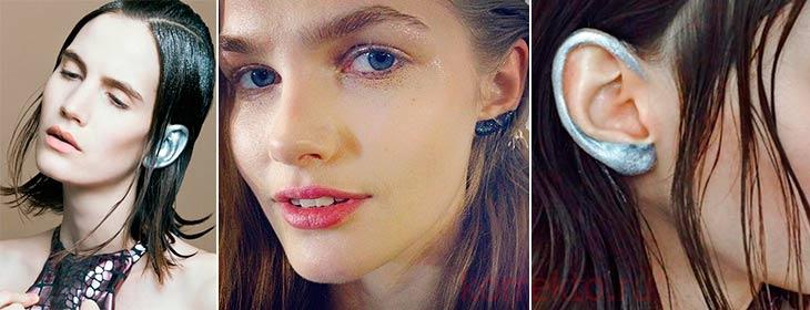 Пример макияжа ушей