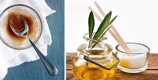 Скраб для губ из сахара и оливкового масла
