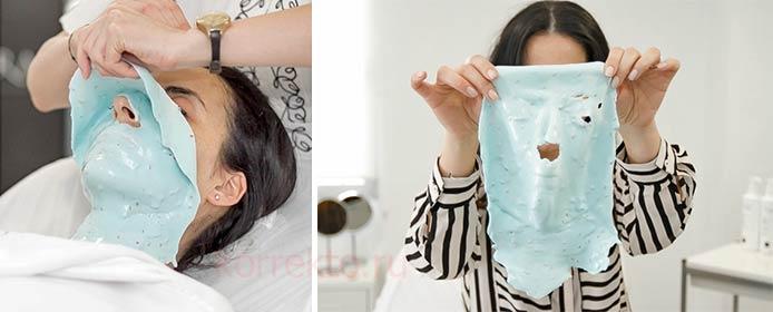 Как снимать альгинатную маску