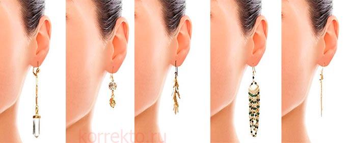 Какие носить серьги при короткой шее