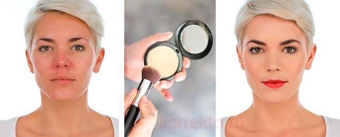 Как скрыть покраснения лица макияжем