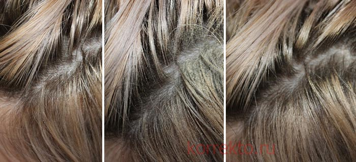 Пример применения загустителя для волос
